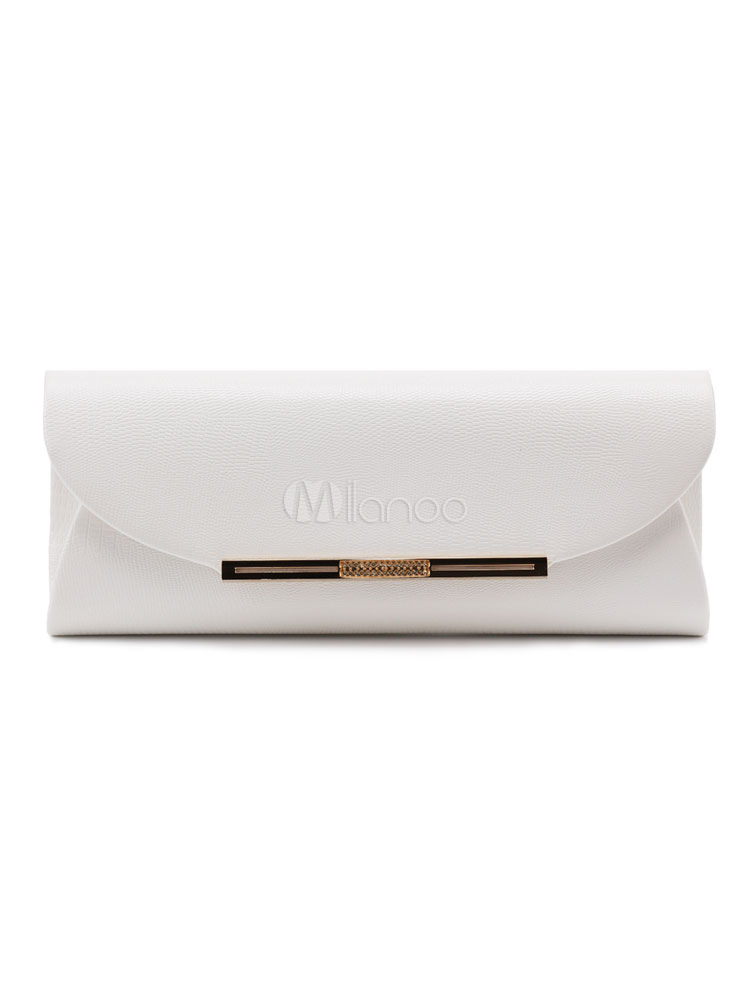 Buy Envelope Clutch Bags Wedding Bridal Purse PU Evening Handbags for $37.79 in Milanoo store