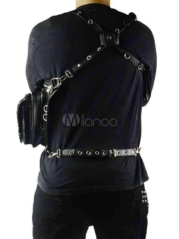 f18b01786d50 ... Steampunk Shoulder Leg Bag Holster Bag Messenger Halloween Retro Gothic  Waist Belt SteelMaster Women Men Fanny