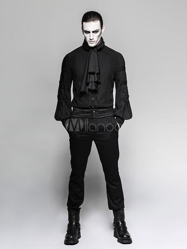 Costume Halloween Man.Gothic Costume Halloween Men Shirts Medieval Victorian Ruffles Blouses Top