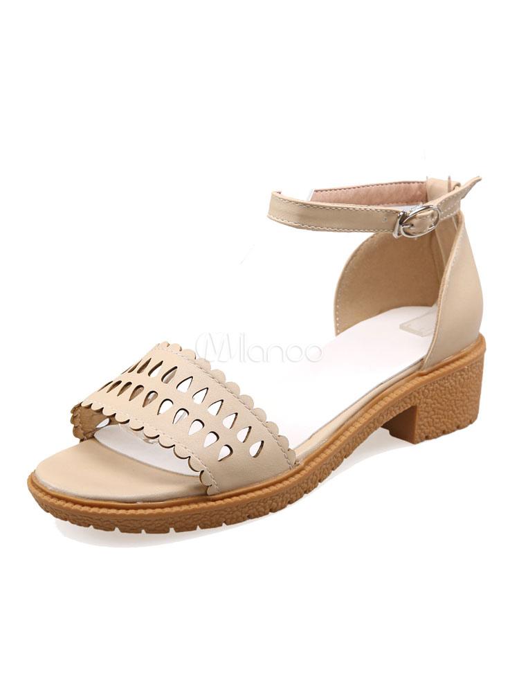Sandales Fermé Chaussures Femmes Abricot Plates Bride Ouvert Bout À wnO8kPN0X