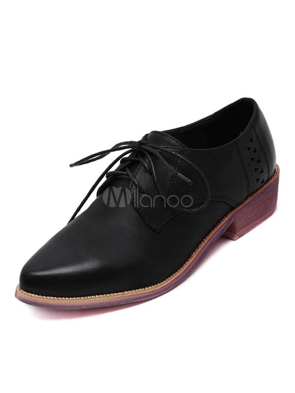 comprar baratas fd5ce 9ce67 Zapatos Oxford para mujer Zapatos de punta en punta de color gris con  cordones