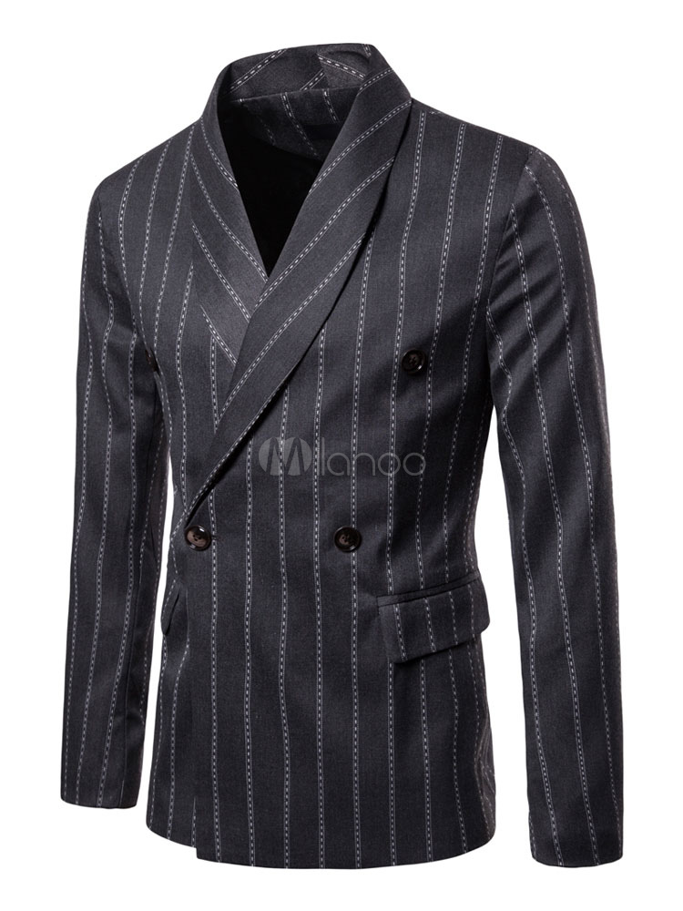 Blazer For Men 1950s Plus Size Double Breasted Suit Jacket