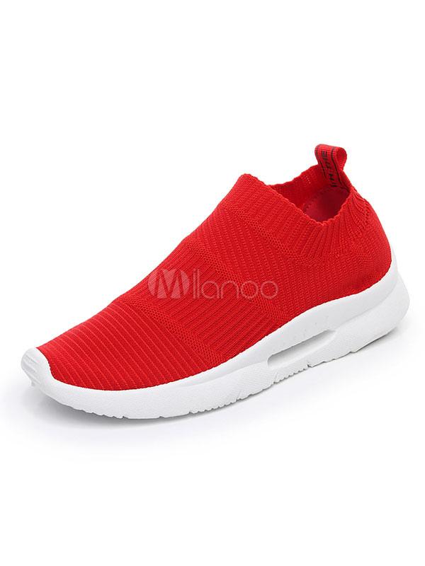 stile alla moda sito web per lo sconto materiale selezionato Scarpe sportive da donna Scarpe da ginnastica rosse con punta arrotondata
