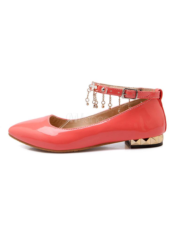 e1fbfbb7edf ... Black Ballet Flats Women Pointed Toe Rhinestone Ankle Strap Flat Shoes-No.5  ...
