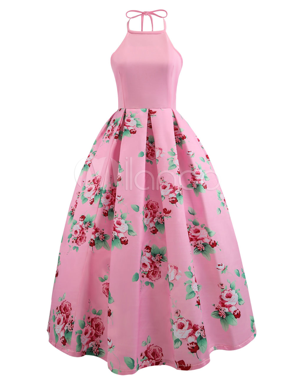 Vestido de la vendimia sin mangas de las mujeres sin mangas del ...