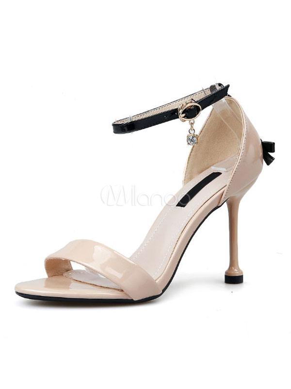 Para Tacón Decoración De Sandalias Mujer Correa 2019 Aguja Alto Zapatos Tobilla Con hdsrCtQ