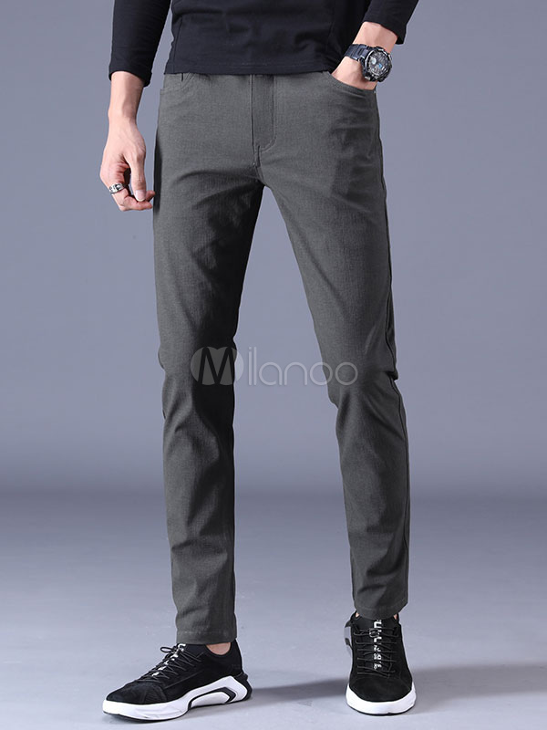 Men Casual Pant Cotton Pocket Tapered Fit Pant