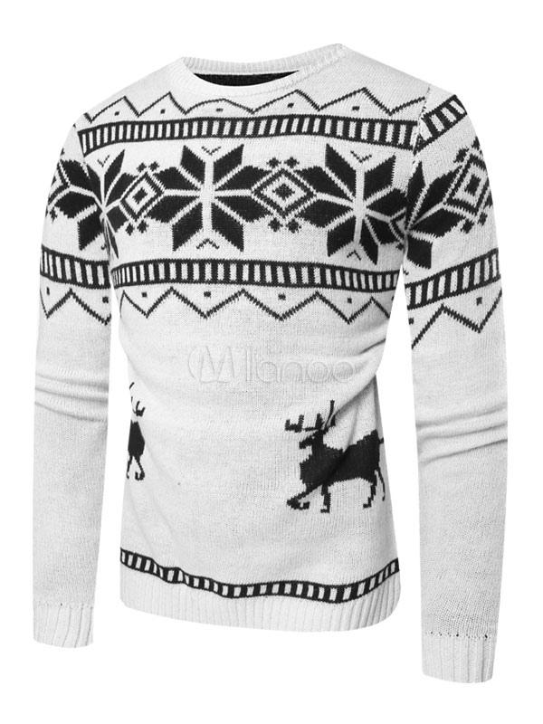 Suéter de jersey de hombre Patrón de navidad Suéter de jersey de ...