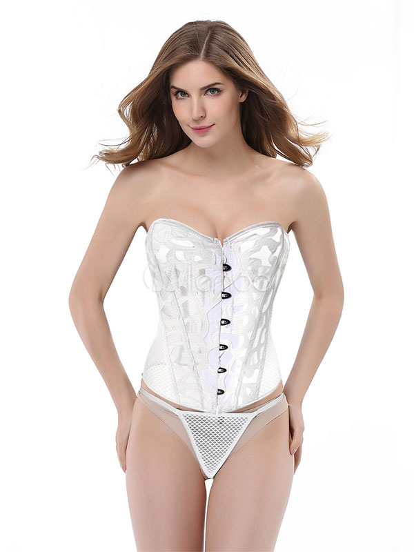 15e060407f1c Corset Sexy Mujer Top Lace Up Semi Sheer Waist Trainer lencería