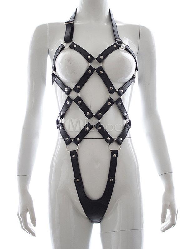 Bond-age Girl Strappy Harness Bodysuit