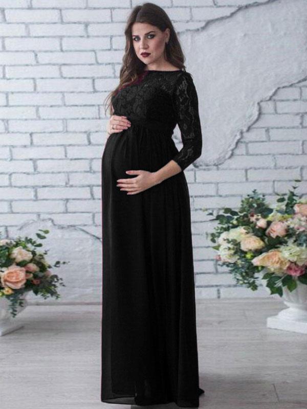 Vestidos de maternidad largos casuales