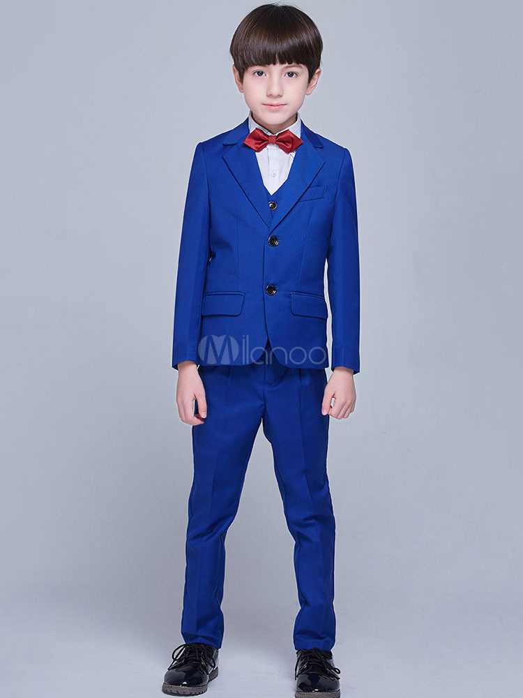 tenue de mariage bleu royal tuxedo bleu roi costumes gar on tenue enfant 5 pi ces. Black Bedroom Furniture Sets. Home Design Ideas