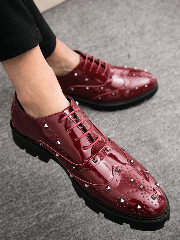 liquidazione a caldo vendibile modelli di grande varietà Scarpe oxford bordeaux Scarpe eleganti da uomo Scarpe a punta rovesciate  Scarpe da lavoro casual