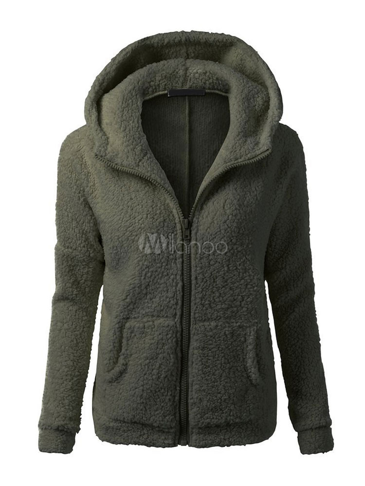 zip up hoodie teddy bear jacket long sleeve hooded winter. Black Bedroom Furniture Sets. Home Design Ideas