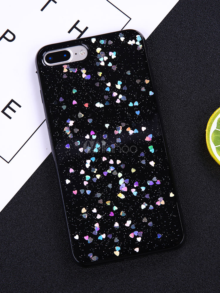 Buy Soft Phone Case Sequin Sweatheart Shatter Proof Scratch Resistant TPU Protective Bumper For IPhone X IPhone 8 Plus for $2.39 in Milanoo store