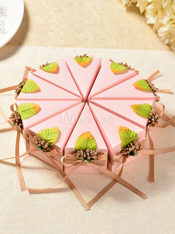 Birthday Favor Boxes 10 Pcs Cake Shape Small Gift Candy Box Wedding Party Favor Holders
