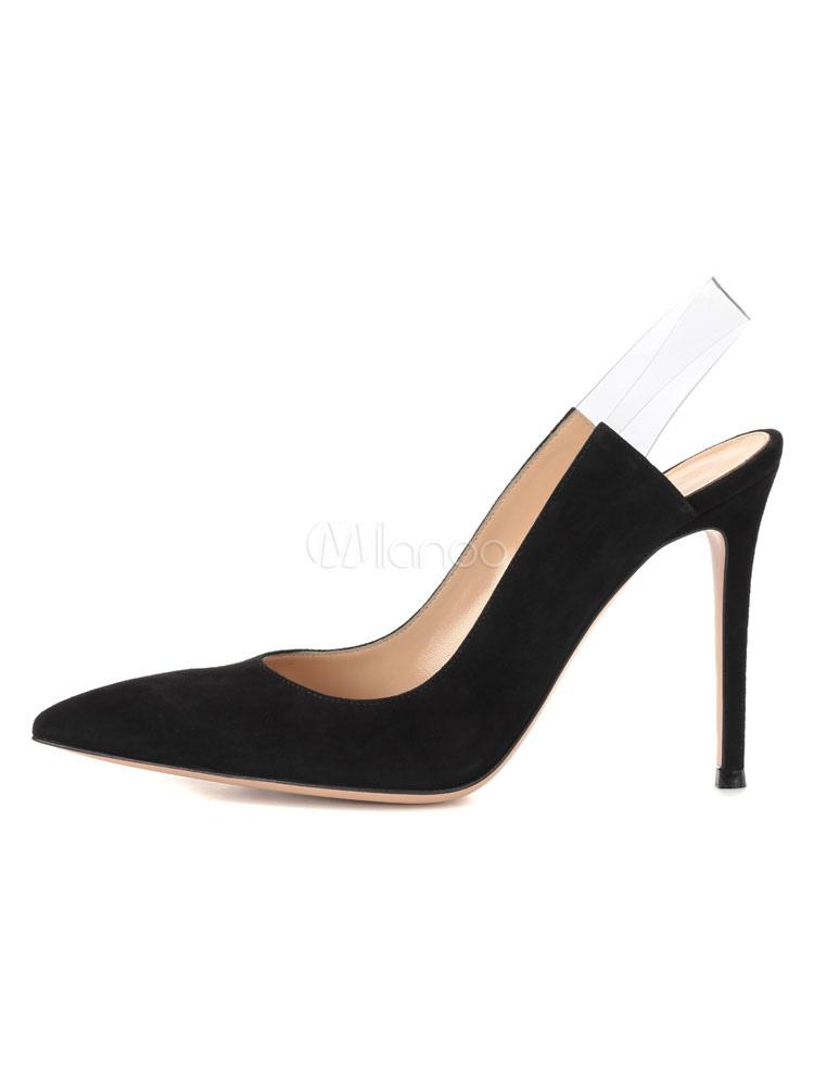 tacones de de Zapatos tacones negros de de cuero aguja de vestir fiesta Zapatos de mujer wII0Rq