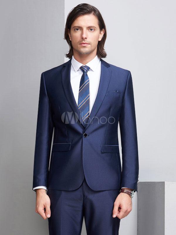 Outfit Matrimonio Uomo : Matrimonio smoking sposo e groomsman abiti profondo blu giacca