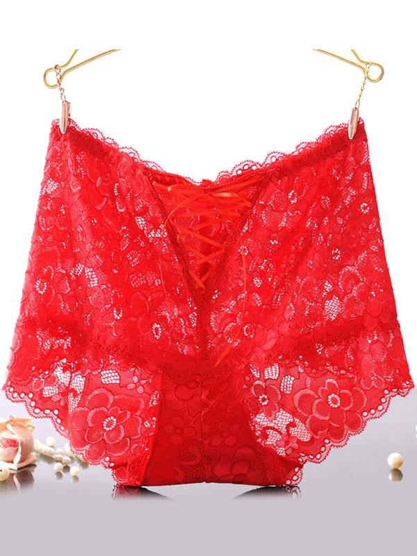 30c5e73039b ... Women Panties Underwear Lace Up Knicker Sheer Boxer Briefs Lingerie  Nightwear-No.10
