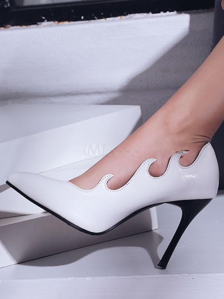 Rcwqoebedx Da Tacchi Scarpe Con Eleganti Alti Bianche Donna dCxeWQoErB