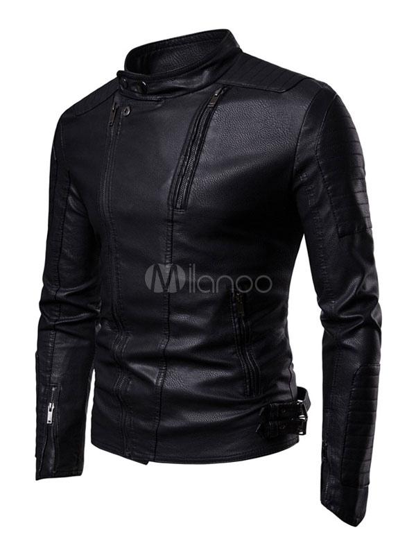 lowest price 347eb 5fe0d Giacca in pelle nera per uomo