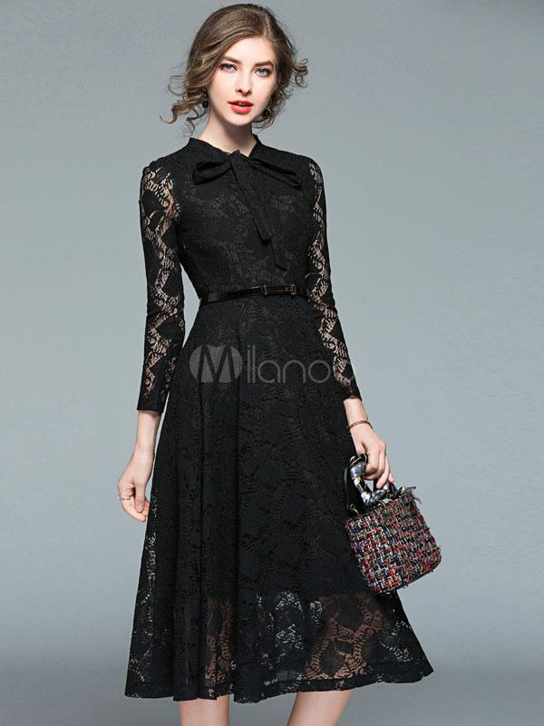 Collares para vestido negro cuello redondo