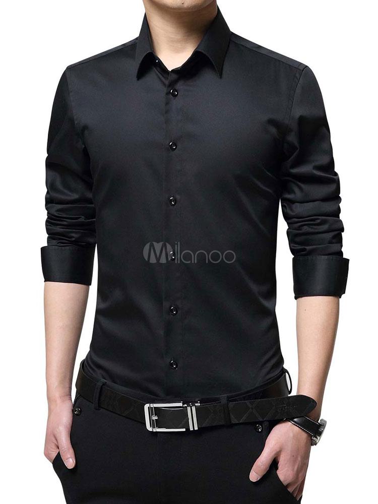 Camisa De Vestir Para Hombre Camisa De Manga Larga Con Ajuste Regular Camisa De Manga Larga Con Ajuste Normal
