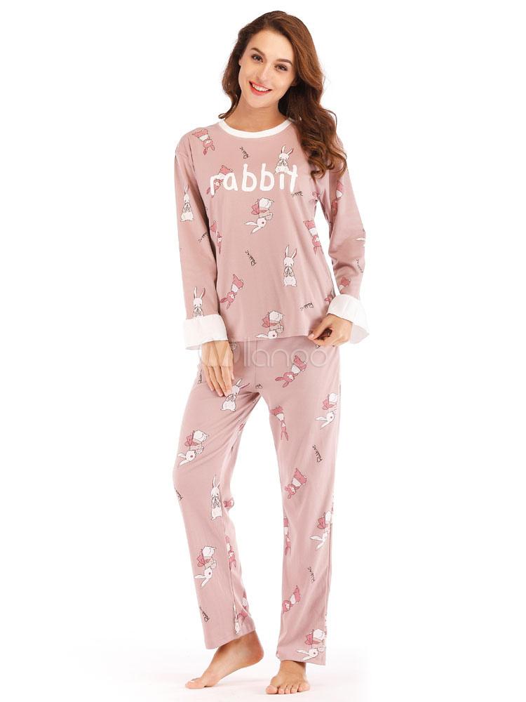 baedcc6d7317 Women Pajamas Loungewear Letters Print Pink Lingerie Sleepwear-No.1 ...