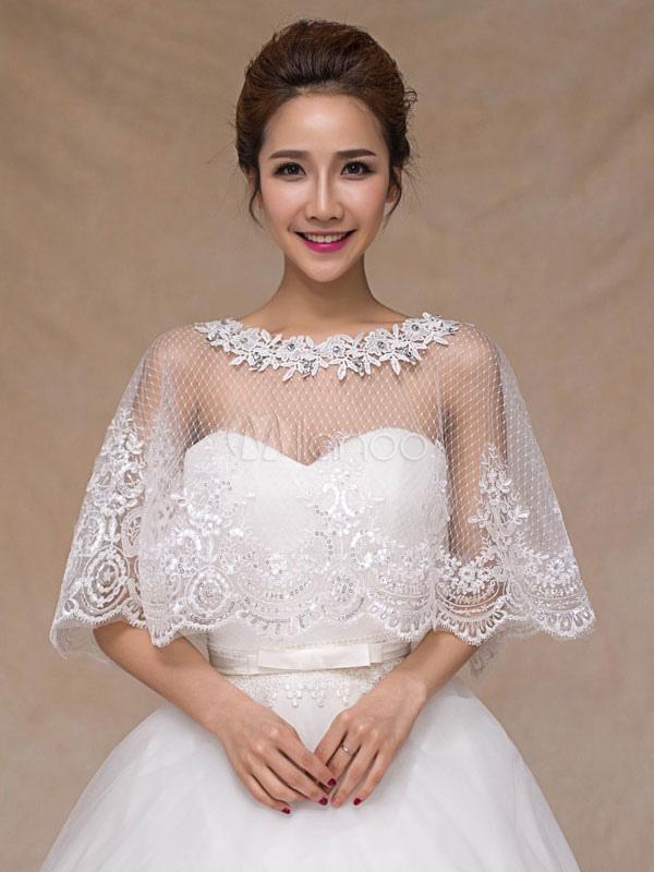 521f09b367 Wedding Poncho Cape Lace Ivory Shrug Shawl Bridal Cover Ups-No.1 ...