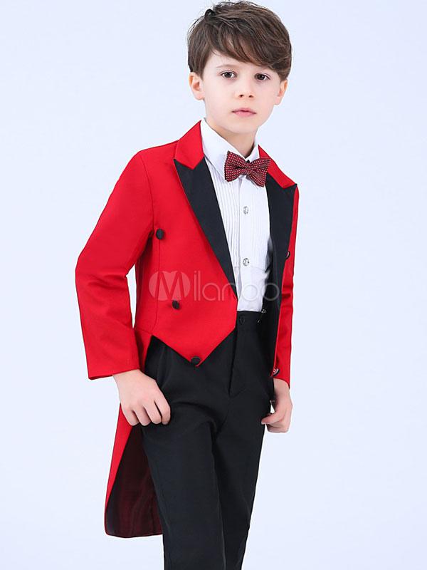 ... Traje del portador del anillo Trajes de boda para niños Ropa formal para  niños de color 2d9a5353203