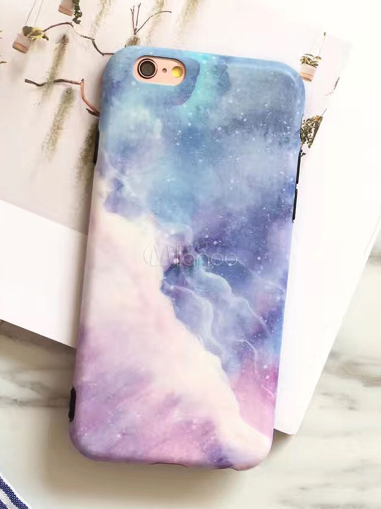 new styles fa030 4fc2f Soft Phone Cover Ombre Galaxy Print Shatter Shield Scratch Proof TPU Bumper  For IPhone XS Max IPhone XS