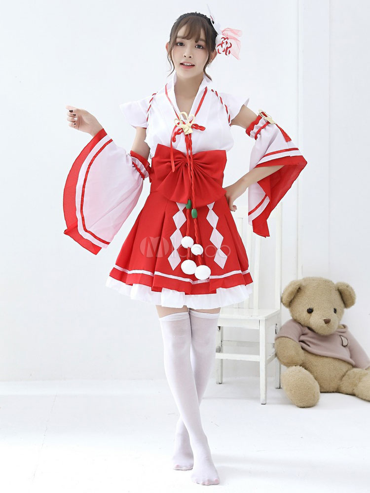 761e56d93 Kimono Traje Japonés Rojo Mujer Vestidos Cortos Traje - Milanoo.com