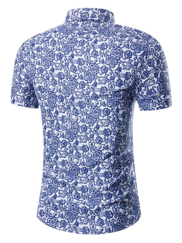 the best attitude aaa51 4f07c Camicia uomo Beach Camicia casual a maniche corte con stampa floreale  estiva taglie forti