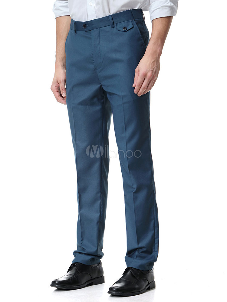 Men Work Pant Plus Size Dress Pant Business Casual Straight Leg Pant