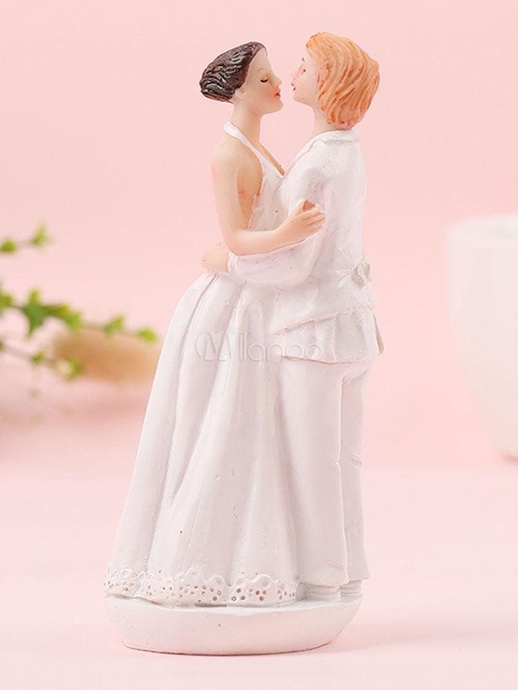 Décoration De Topper Poupée Résine Mariage Gâteau Lesbien Blanche Figurine rQdshCt