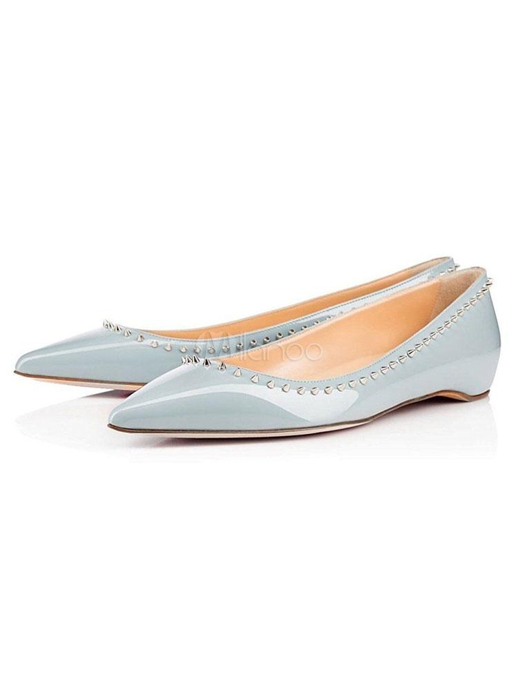 Women Ballet Flats Light Blue Pointed