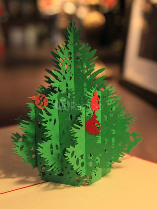 Auguri Di Natale 3d.Biglietto Di Auguri Per Albero Di Natale Pop Up Natale 3d Regali Di