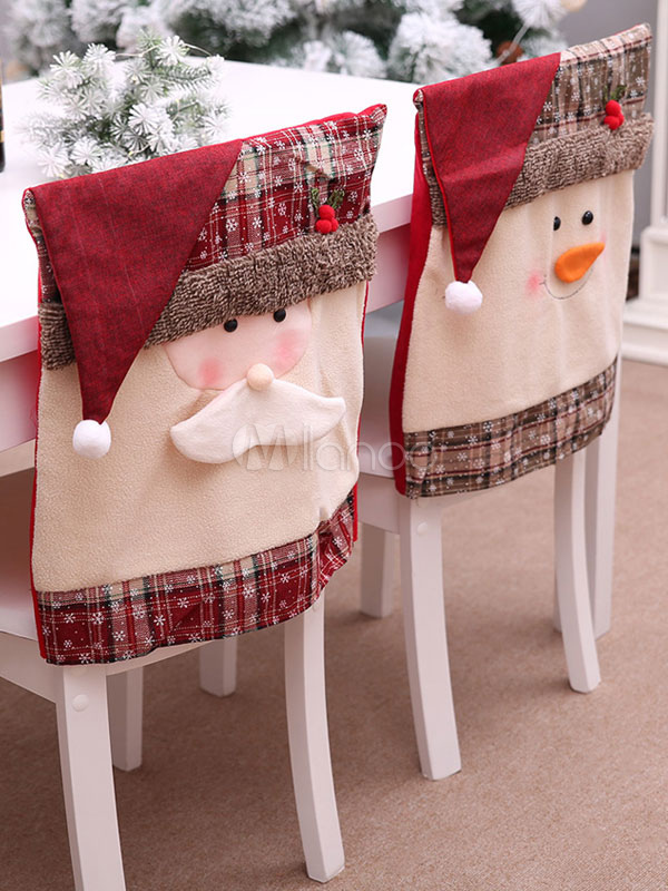 Miraculous Christmas Chair Cover Santa Claus Snowman Home Xmas Decorations Halloween Caraccident5 Cool Chair Designs And Ideas Caraccident5Info