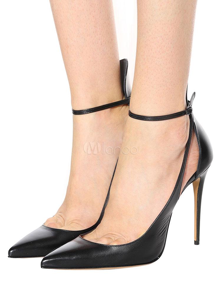 Black High Heels Women Pointed Toe
