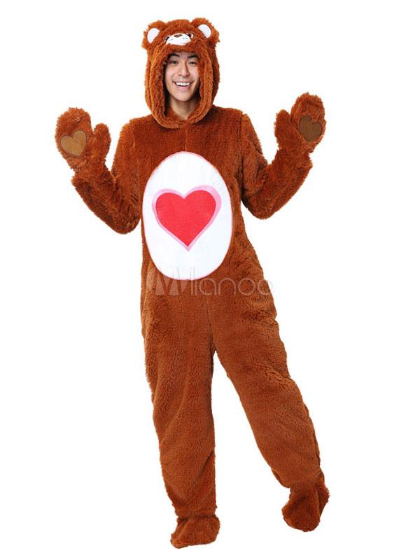 Care Bears Pajamas Kigurumi Onesie Adult Unisex Brown Hooded Winter  Halloween Costume-No.1 ... 0a4731afd