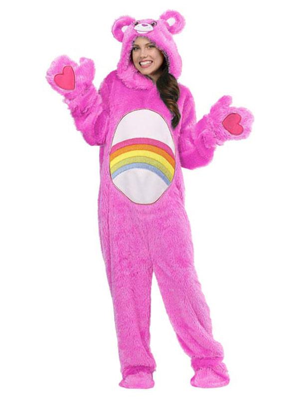 5dc7edf4a Rainbow Bears Pajamas Kigurumi Onesie Adult Unisex Pink Hooded ...