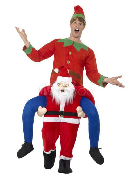 Costume Babbo Natale.Costume Babbo Natale Costume Halloween Portato A Cavalluccio Natale