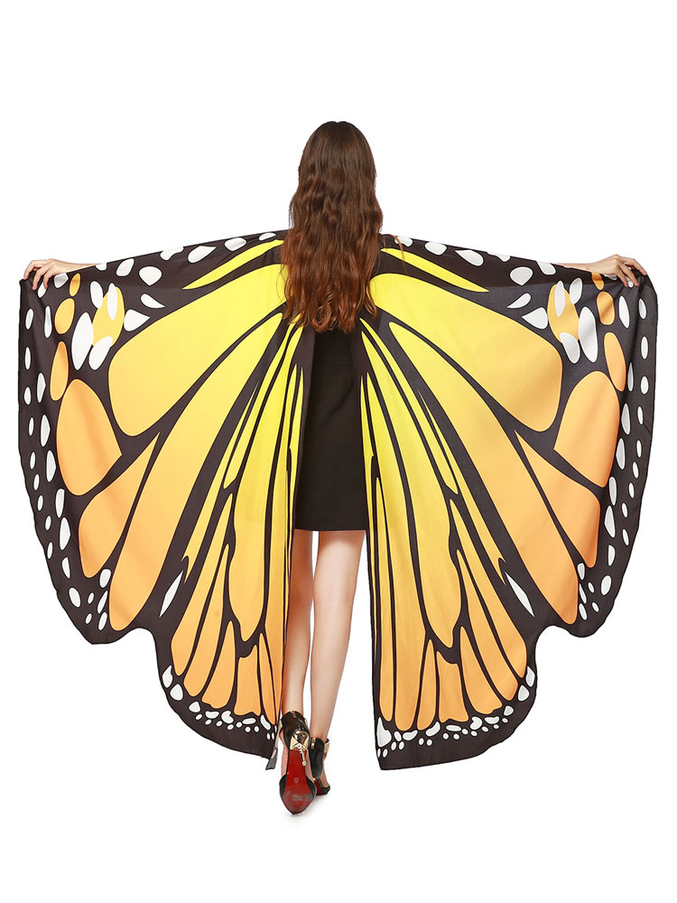 59756f5b875 Monarch Butterfly Wings Costume Cape Adults Halloween Cosplay Accessories