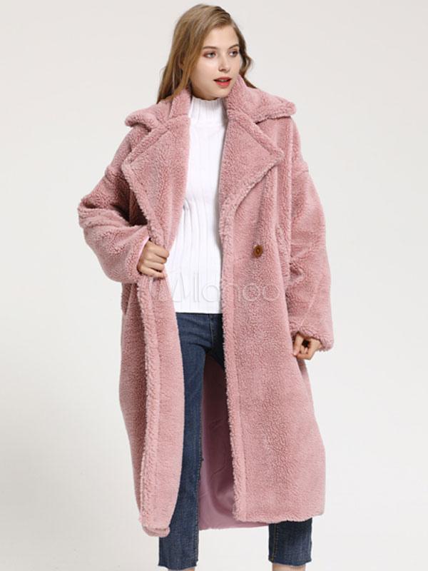 nuevo concepto 71437 e2912 Abrigo de piel sintética Abrigo de invierno abrigo de oso de peluche para  mujer Abrigo de invierno