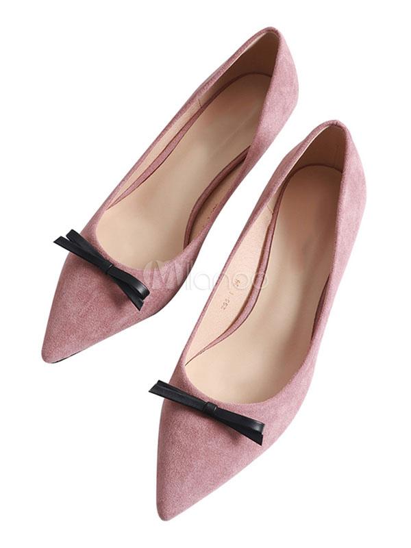 Kitten Heel Pumps Zapatos De Vestir Para Mujeres Desnudos De Ante Con Punta En Punta Para El Arco Milanoo Com