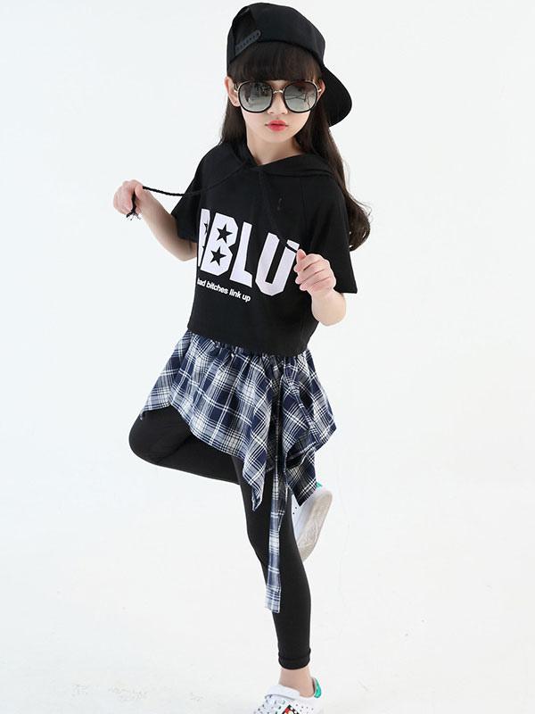 size 40 291c1 4f75d Jazz Dance Kostüm Kinder Hip Hop Kleidung Mädchen Street Dance Outfit Top  und Hose Halloween