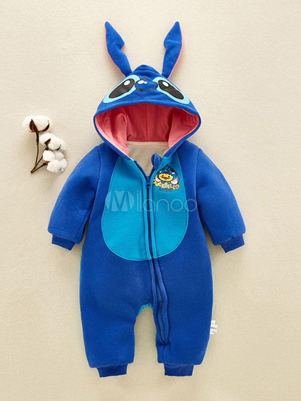 offerta speciale bene fuori x migliore online Pigiama Baby Stitch 2019 Bimba Kigurumi Tutina Blu in Flanella per Bambini  Halloween