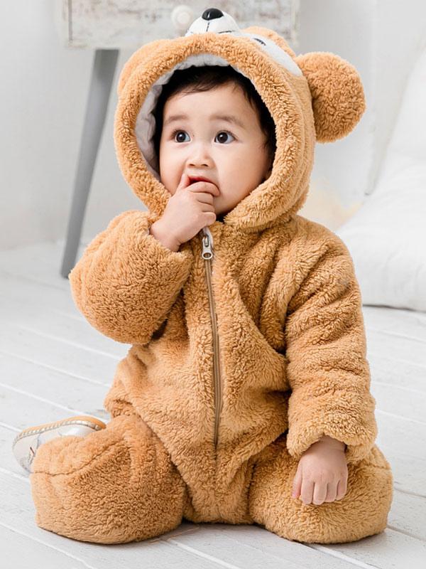 fc38052c0 Bear Pajamas Kigurumi Onesie Toddlers Baby Pink Flannel Winter ...