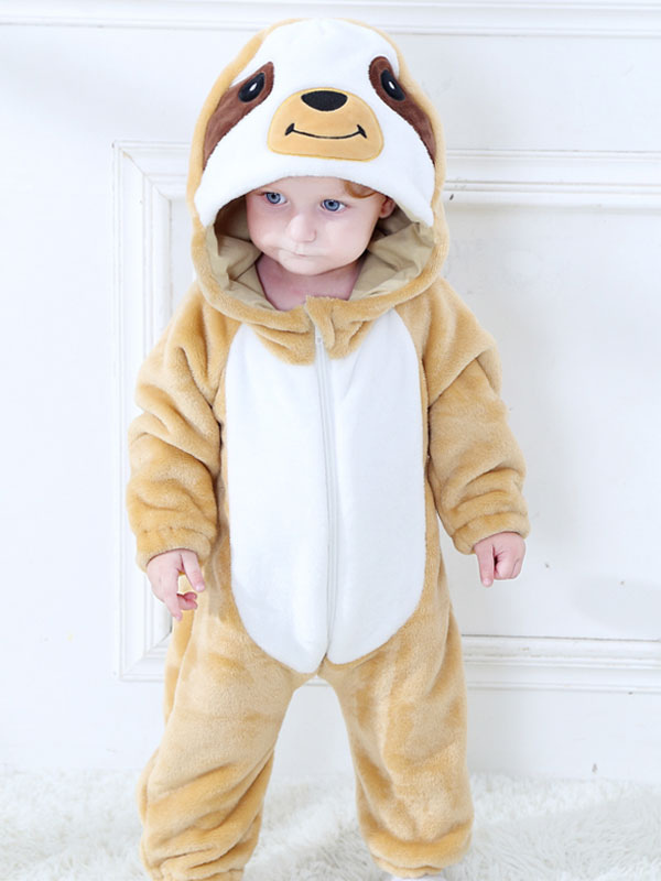 69b577a974a Toddlers Sloth Kigurumi Pajamas Onesie Flannel Jumpsuits For Kids Halloween