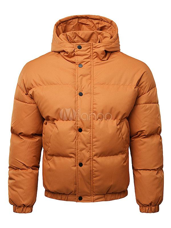 promo code 11b77 45723 Giacca Piumino da Uomo 2019 con Cappuccio Giacca a Vento Vestibilità Comoda  in Cotone Imbottito Invernale